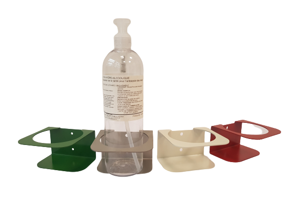 Fabricant de support métal pour bouteille de gel hydroalcoolique
